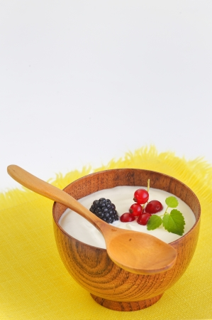 Yogurt with fruits Stock Photo - 16481591
