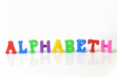 colorful plastic toy letters  photo