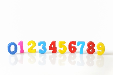colorful plastic toy numbers  Stock Photo - 16480823
