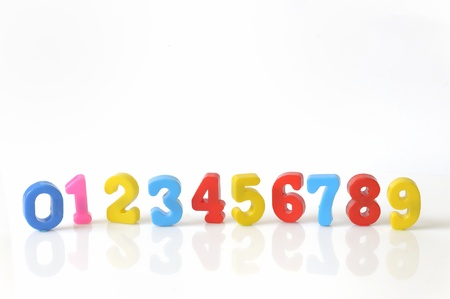 plastic toy numbers  photo