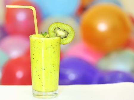 fresh juice made from kiwi fruit Stock Photo - 16480850