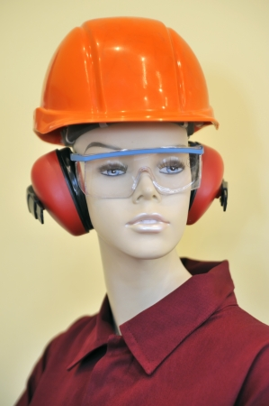 mannequin and protection equipment Stock Photo - 16530056