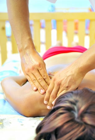 massage at the beach  Stock Photo - 16517138