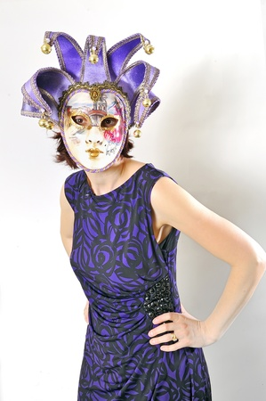 girl in a Venetian mask isolated Stock Photo - 16533447