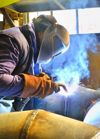 metalworker: welding with mig mag method