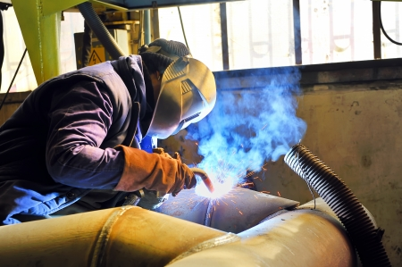 welding with mig mag method Stock Photo - 16533980