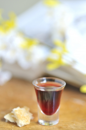 Taking Communion Stock Photo