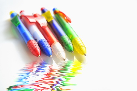 coloured ball pens Stock Photo - 20777690