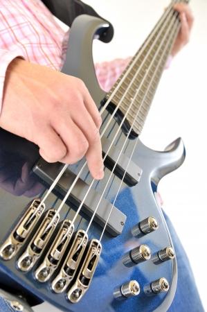 bass player: Guitar player  Stock Photo