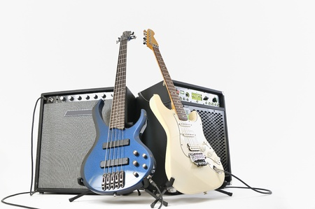 guitars and amplifiers Stock Photo - 16535311