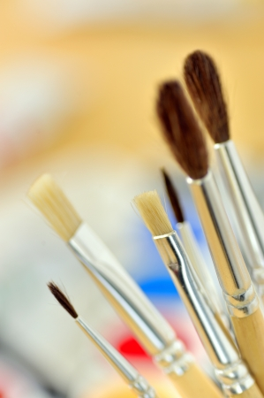 Artist paintbrushes  photo