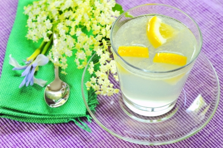 elderflower juice with lemon Stock Photo - 20777356