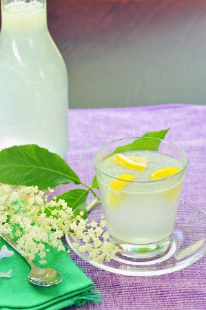 elderflower juice with lemon Stock Photo - 20777357