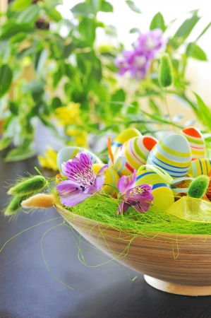 basket with easter eggs Stock Photo - 16567571