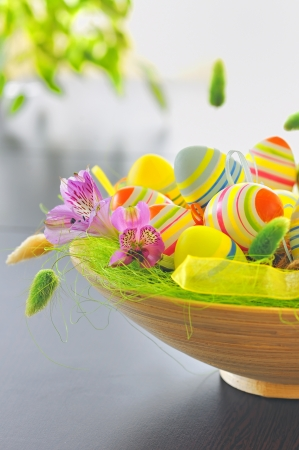 basket with easter eggs Stock Photo - 16567474