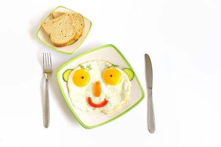 Happy Face Frying Eggs Stock Photo - 16567258