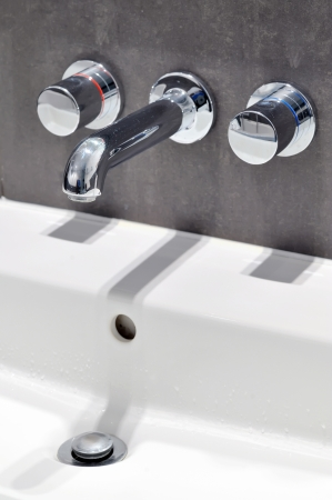 Modern stainless steel tap photo