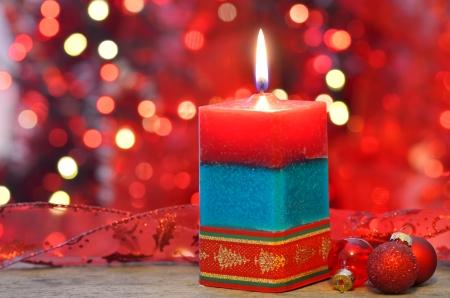 Christmas candle Stock Photo - 20777382