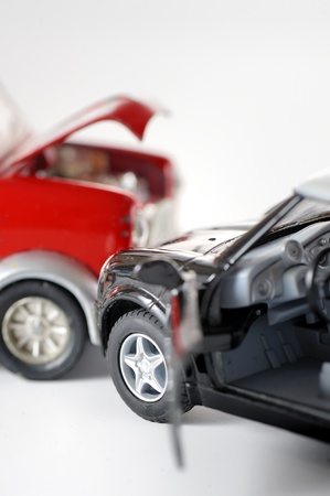 traffic accident: Two cars in an accident