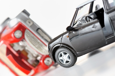 Two cars in an accident  Stock Photo - 17456881