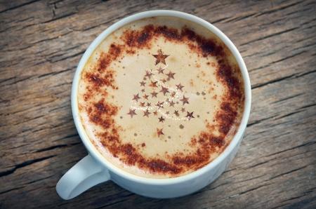 Weihnachten cappuccino Standard-Bild