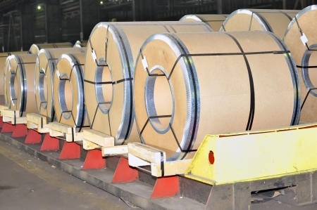 packed rolls of steel sheet Stock Photo - 17456900
