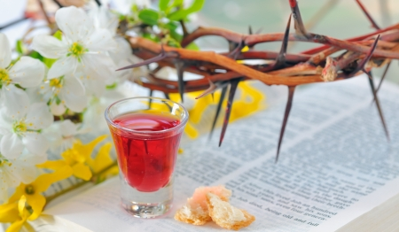 clean blood: Taking Communion Stock Photo