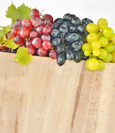 types of grapes on wood Stock Photo - 17748274