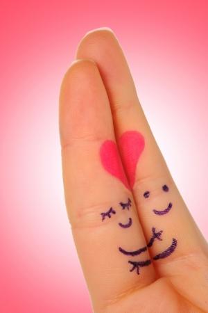 fingers love Stock Photo - 17771078