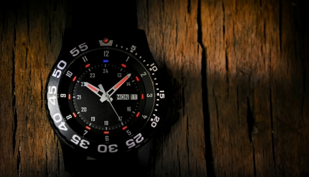 Tritium military watch Stock Photo - 17931836