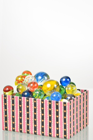marbles balls in box Stock Photo - 17931846