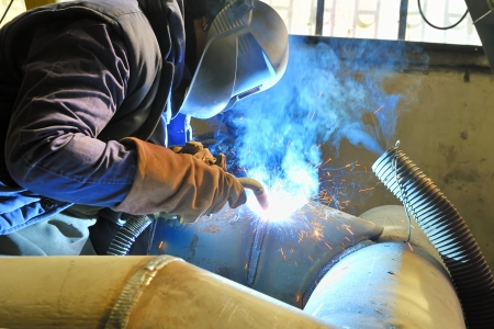 welding with mig-mag method Stock Photo - 18116373