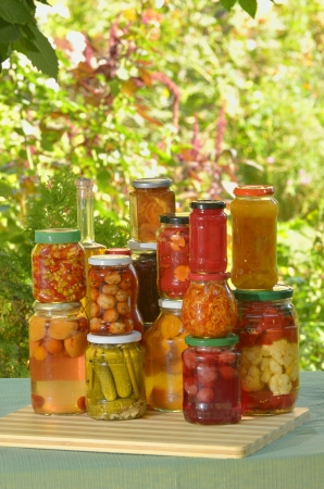 autumn preserves - vegetables in jars Stock Photo - 18385625