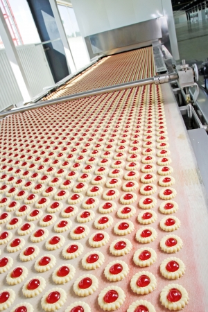 Production of biscuits Stock Photo - 18385609