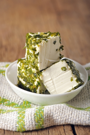 green cheese in cube shape Stock Photo - 18688795