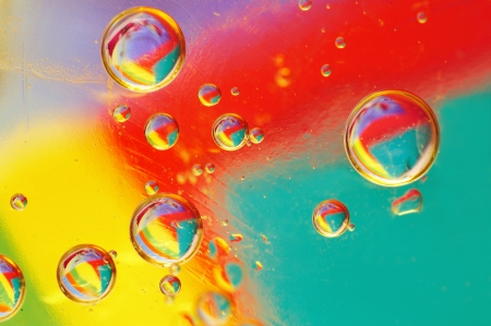 oil colored bubbles Stock Photo - 18688800