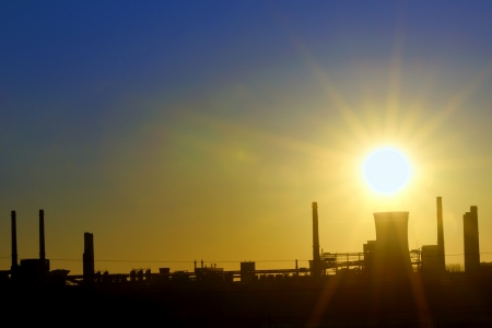 Industrial sunset shoot  in spring time Stock Photo - 18841880