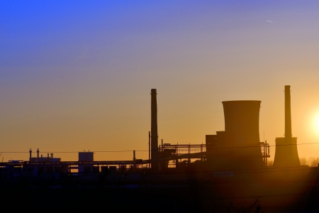 Industrial sunset shoot  in spring time Stock Photo - 18841873