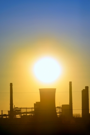 Industrial sunset shoot  in spring time Stock Photo - 18992392