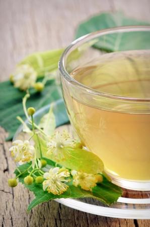 linden tea and flowers shoot in studio Stock Photo - 20764391