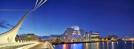 dublin ireland: THE SAMUEL BECKETT BRIDGE in Dublin