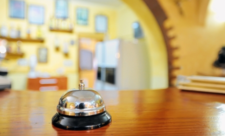 service bell at the hotel reception Stock Photo - 20764448