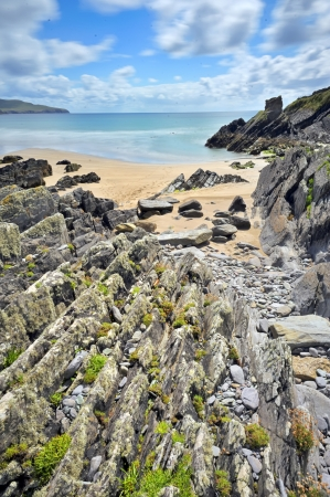 rocky shore of atlantic ocean from ireland.horizon landscape Stock Photo - 20764451