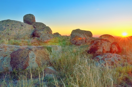 Beautiful summer landscape in the hills. Sunrise Stock Photo - 20764481