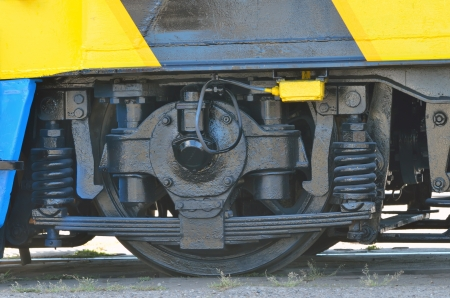 details of railway wheels wagon recondition  Stock Photo - 21452118