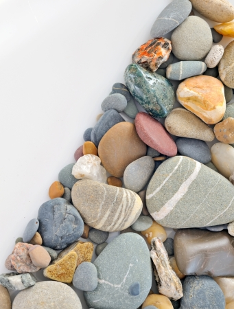 colored stones on white background Stock Photo - 21452148