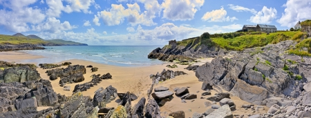 northshore: ireland landscape panorama shoot in summer time