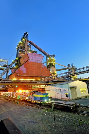 steel plant shoot in night time Stock Photo - 21418216