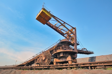 coal loading conveyor belt piles coal inside of plant Stock Photo - 21452063
