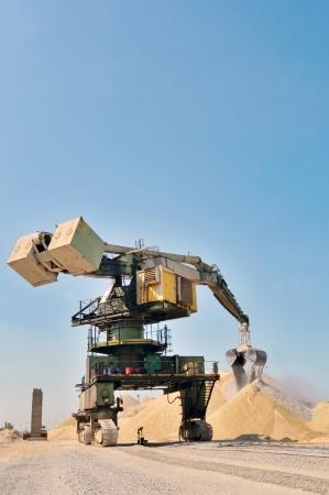 shale: giant bucket wheel excavator inside of construction site